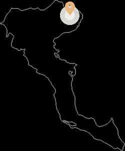 Small Corfu Map with the pinnde location of Corfu View Villas